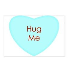Hug Me Conversation Heart Postcards (Package of 8)