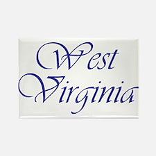 West Virginia Blue Rectangle Magnet
