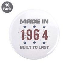 "Made In 1964 3.5"" Button (10 pack)"