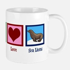 Peace Love Sea Lions Mug