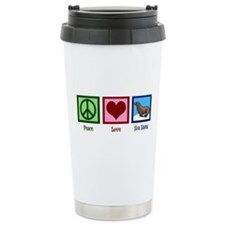 Peace Love Sea Lions Travel Mug