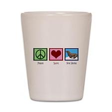 Peace Love Sea Lions Shot Glass