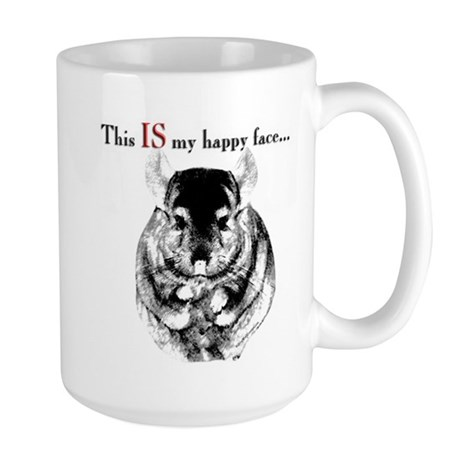 Chinny Happy Large Mug