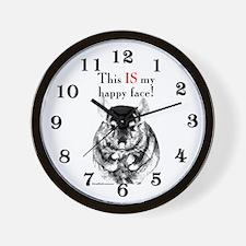 Chinny Happy Wall Clock