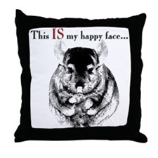 Chinny Happy Throw Pillow
