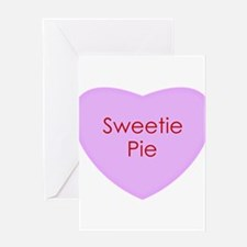 Sweetie Pie Conversation Heart Greeting Cards