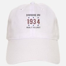 Made In 1934 Baseball Baseball Cap
