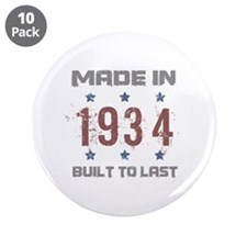 "Made In 1934 3.5"" Button (10 pack)"