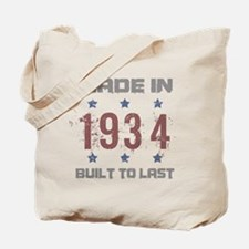 Made In 1934 Tote Bag