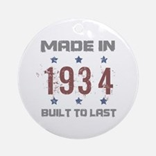 Made In 1934 Ornament (Round)