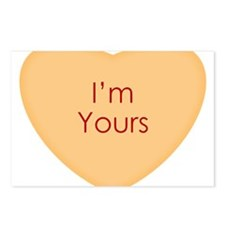 Im Yours Conversation Heart Postcards (Package of