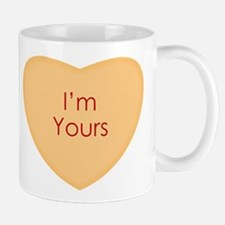 Im Yours Conversation Heart Mugs
