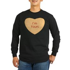 Im Yours Conversation Heart Long Sleeve T-Shirt