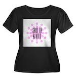 Shut Up & Knit Women's Plus Size Scoop Neck Dark T