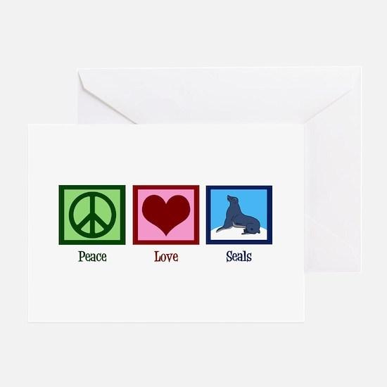 Peace Love Seals Greeting Card