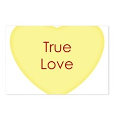 True Love Conversation Heart Postcards (Package of