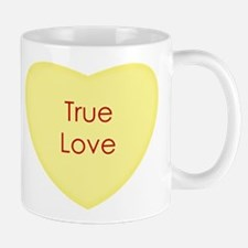 True Love Conversation Heart Mugs