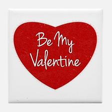 Be My Valentine Conversation Heart Tile Coaster