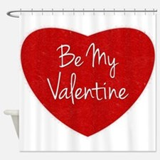 Be My Valentine Conversation Heart Shower Curtain
