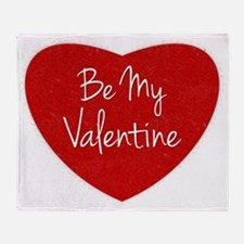 Be My Valentine Conversation Heart Throw Blanket