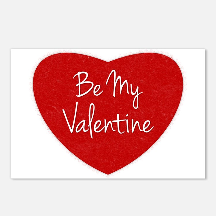 Be My Valentine Conversation Heart Postcards (Pack