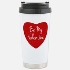 Be My Valentine Conversation Heart Travel Mug