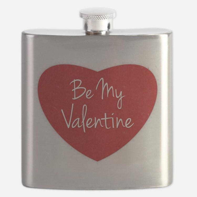 Be My Valentine Conversation Heart Flask