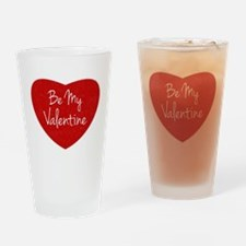 Be My Valentine Conversation Heart Drinking Glass