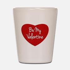 Be My Valentine Conversation Heart Shot Glass