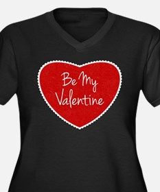 Be My Valentine Conversation Heart Plus Size T-Shi