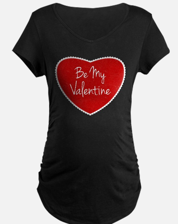 Be My Valentine Conversation Heart Maternity T-Shi