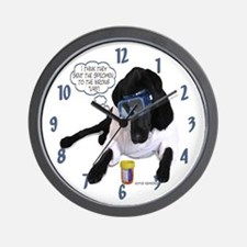 Black Lab Scientist Wall Clock
