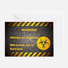 Sarcasm Warning Greeting Card
