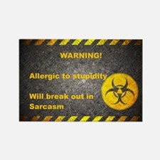 Sarcasm Warning Rectangle Magnet