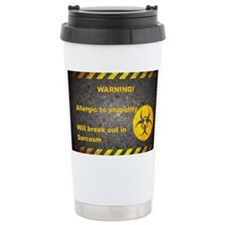 Sarcasm Warning Stainless Steel Travel Mug