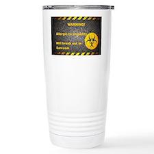 Sarcasm Warning Thermos Mug
