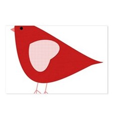 Red Lovebird Postcards (Package of 8)