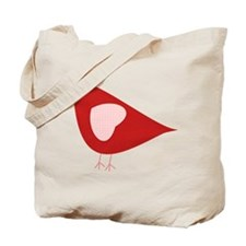 Red Lovebird Tote Bag