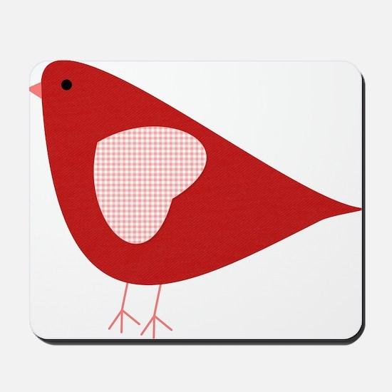 Red Lovebird Mousepad