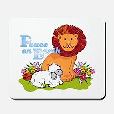 Lion & Lamb Peace On Earth Mousepad