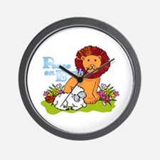 Lion & Lamb Peace On Earth Wall Clock