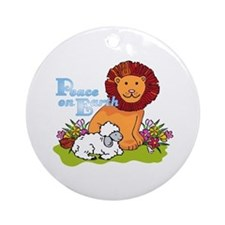 Lion & Lamb Peace On Earth Ornament (Round)