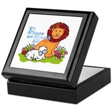 Lion & Lamb Peace On Earth Keepsake Box