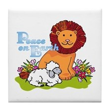 Lion & Lamb Peace On Earth Tile Coaster