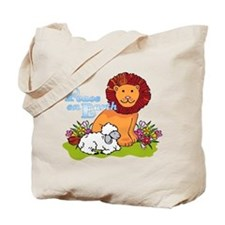Lion & Lamb Peace On Earth Tote Bag