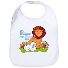 Lion & Lamb Peace On Earth Bib