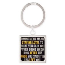Commitment Square Keychain