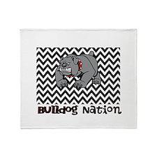 Bulldog Nation Throw Blanket