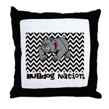 Bulldog Nation Throw Pillow