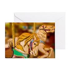 Carnival rides horses Greeting Card